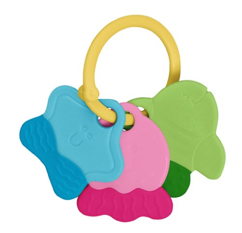 green sprouts Teething Keys | Encourages whole learning | Durable material made from safer plastic, Easy to hold & shake, Playful rattle sound