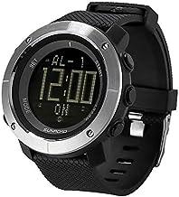 Generic Sunroad FR1001 3ATM Reloj de exterior impermeable con hora mundial, cuenta atrás, cronómetro, retroiluminación, reloj despertador