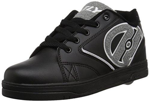 HEELYS Boys' Propel Sneaker, Black/Grey Terry, 6 Medium US Big Kid