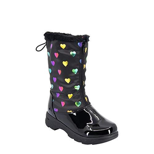 Khombu Bootie Snow Boot, Black Multi, 1 US Unisex Little Kid