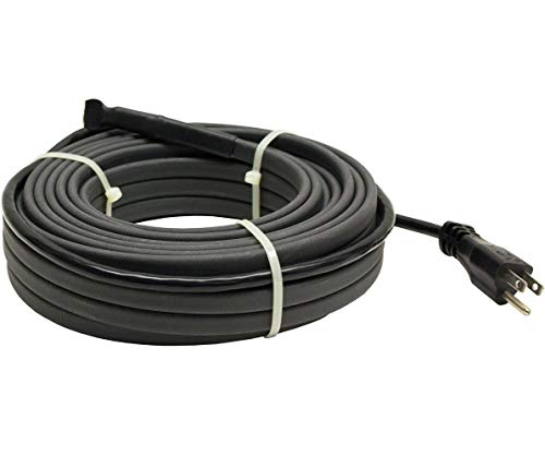 KING SRP126-87 Pre-Assembled Self-Regulating Pipe Trace Roof/Gutter De-Icing Heating Cable with Plug, 87.5-ft / 120V