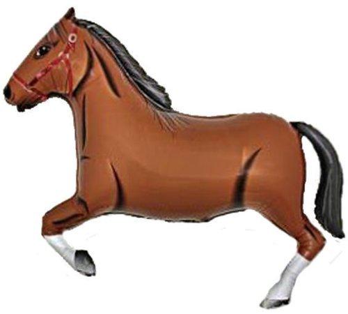 Dunkelbraun Pferd Riesen Folienballon (nicht aufgeblasenen)