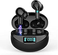 Wireless Earbuds, Bluetooth 5.0 Earphones Hi-Fi Stereo Active Noise Cancelling Headphones 32H Playtime True Wireless Earbuds IP7 Waterproof Headset In-Ear Headphones with Mic and Type C for Travel Gym