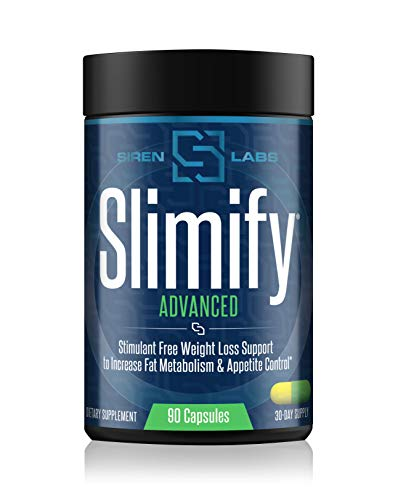 Siren Labs Slimify Advanced Fat Burner for Weight Loss - Garcinia Cambogia, African Mango, and Grains of Paradise - Boost Metabolism, Decrease Appetite, and Increase Energy - Stim Free (90 Capsules)