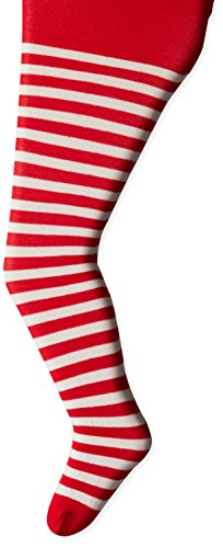 Jefferies Socks girls Striped Jefferies Socks Little Stripe Tights, Red/White, 24-48 Months US