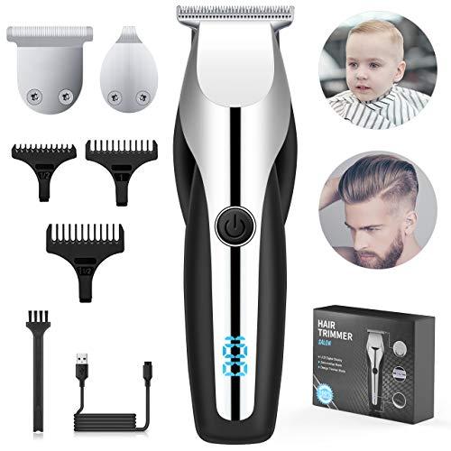 Haarschneidemaschine, Tesoky Profi Haarschneider Herren Haartrimmer Set,Tragbar Bartschneider Barttrimmer Haarschere Langhaarschneider mit Akku- und Wasserdicht, Perfekter Haarschnitt