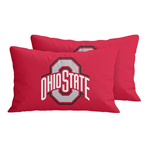 MT-Sports University Throw Pillow Covers Pillow Cases Decorative Pillowcase Protecter with Zipper Without Insert Set of 2 (Ohio State Buckeyes, 12