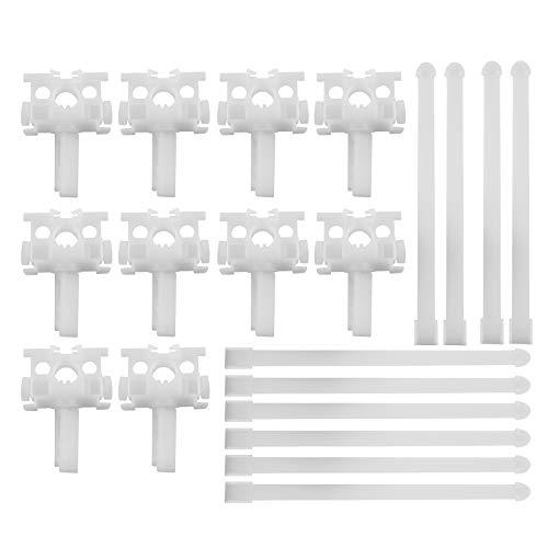 AXLIZER 10PCS Vertical Blind Repair Carrier Repair Bracket Vertical Blinds Repair Kit Blinds Replacement Parts, White