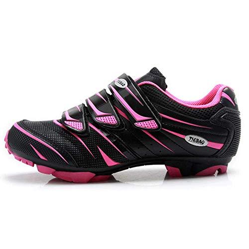 Zapatillas De Ciclismo MTB para Hombre Bicicleta De Bicicleta Bicicleta para Hombres Y Mujeres Zapatillas De Ciclismo Ultraligeras,Pink-40