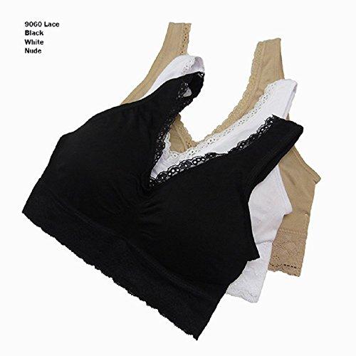 Coobie Seamless Lace Comfort Bra, Light Nude, Medium