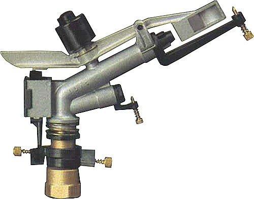 Cañón de riego largo alcance IBIS 1'   Ángulo de riego ajustable   Alcance de 13 a 23 mts   Presión de trabajo 1,5 a 5 bar   Conexión 1' hembra   Aspersor Agricola