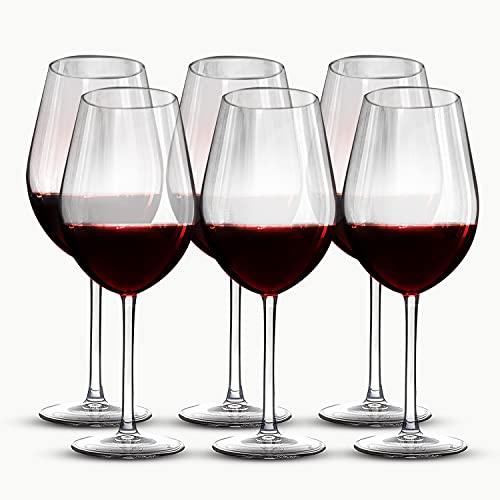 Hostelvia Copas de Vino Degustación 470 ml - Pack de 6 Copas Vino - Cristal Templado...