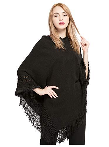 Iris Fairy Hooded Cape met franje Hem, gehaakte Poncho breipatronen voor vrouwen