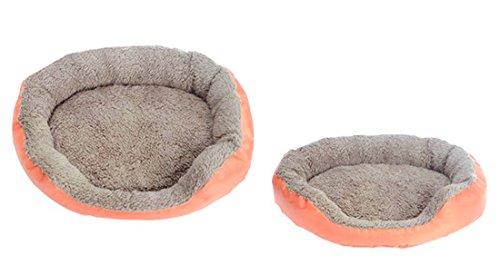 Gullor Chaud et Douillet Doux Bonbons Couleurs imperméable Tissu Oxford Velveteen Chien de la Maison Circulaire - Orange