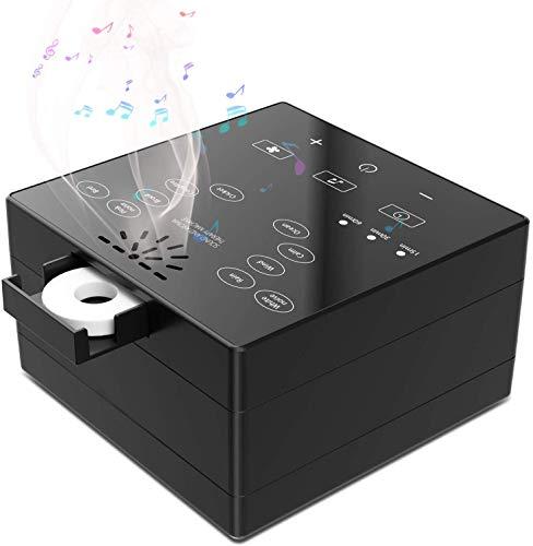 White Noise Machine für Entspannung Meditation und Yoga, TXIN Baby Tragbar Touch Sleep Einschlafhilfe Maschine mit Ätherisches Öl Tablett, 10-Naturgeräusche, Timer, Speicherfunktionen, USB Angetrieben