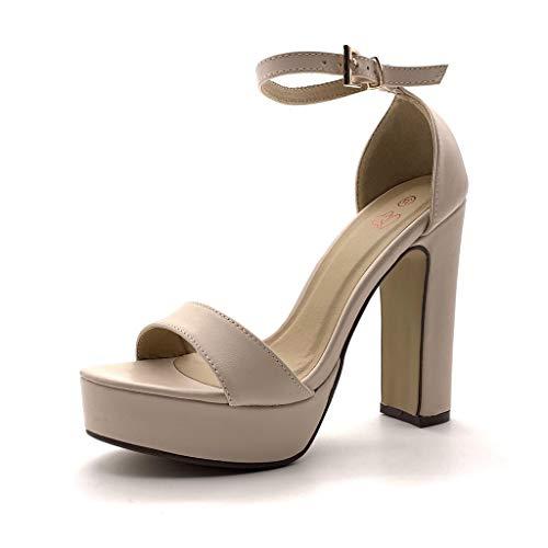 Angkorly - Chaussure Mode Escarpin Sandale Haut Talon...