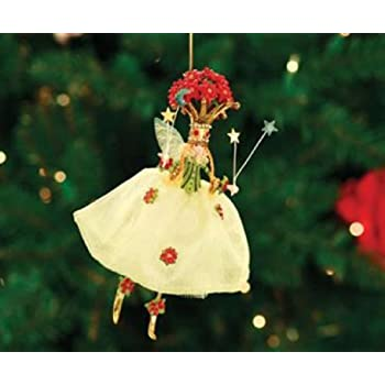 Patience Brewster Poinsettia Queen Christmas Figural Ornament 08-30461