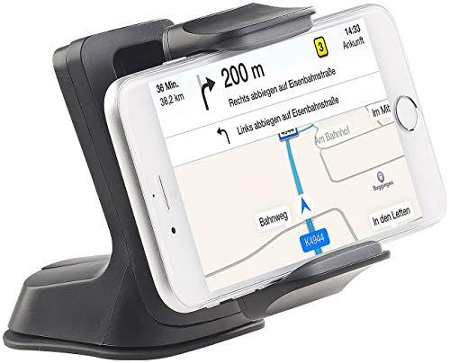 Callstel 120 cm Staffa Macchina: Porta Smartphone da Auto con Ventosa per Parabrezza e cruscotto (Cellulare Staffa Ventosa)