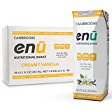 ENU RTD Vanilla Whey Protein Shake 20g (18 Pack)   Lactose & Gluten Free, Non-GMO Workout Drink For Muscle Gain   Healthy Weight Gain Nutrition Drink