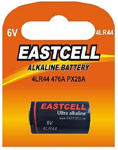 1 x 4LR44 6V (1 Blister a 1 Batterie) Quecksilberfreie Alkaline Batterien PX28, 4G13, 476A, L1325 EINWEG EASTCELL