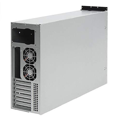 YJIA 4U Crypto Moneda Open Air Mining Marco Rig Graphics Fall for 6 GPU Eth BTC 5 Módulo de Ventilador para experimentos científicos