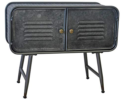 """NACH Luke Industrial Home Decor Side Storage and Center Living Room Farmhouse Console Table-27.7x11.8x23"""", Rustic Metal"""