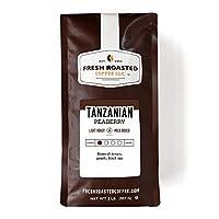 Tanzanian Peaberry Coffee, Whole Bean Bag, Fresh Roasted Coffee LLC. (2 LB.)
