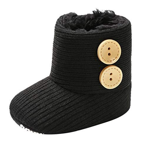 WEXCV Unisex Baby Jungen Mädchen Schuhe Herbst Winter Warm Einfarbig Knopf Kleinkindschuhe Booties Schneeschuhe Niedlich Freizeit Schuhe Lauflernschuhe für 0-15 Monate