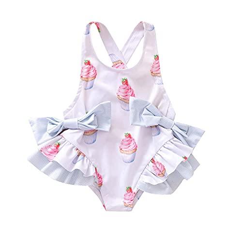 AMhomely Traje de baño de una pieza para bebés y niñas, ropa de playa de verano