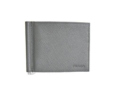 Prada 2MN077, Portafogli Uomo Grigio Grey taglia unica