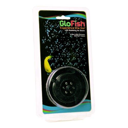 GloFish Blue LED Bubbler, aquarium Lights With Air Stone For Fish Tanks , 2.6-Inch x 4-Inch x 0.5-Inch