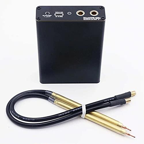 Dgtrhted Spot Welder, recargable, portátil, manual, 5 engranajes, mini máquina de soldadura ajustable con bolígrafo de liberación rápida, placa de níquel, carga tipo C