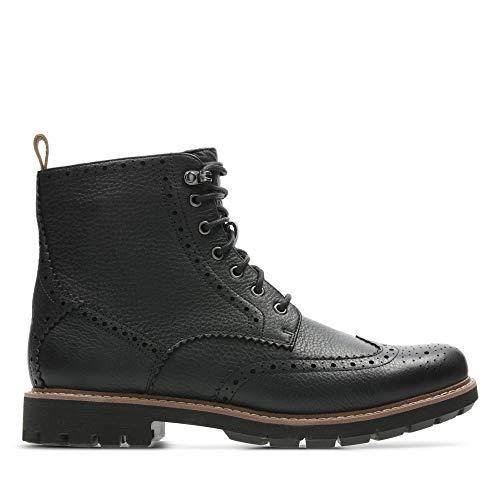 Clarks Men's Batcombe Lord Chelsea Boots, Schwarz (Black), 43 EU