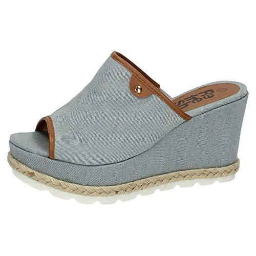 REFRESH 63509 Zuecos Plataforma Mujer Sandalias TACÓN Jeans 40