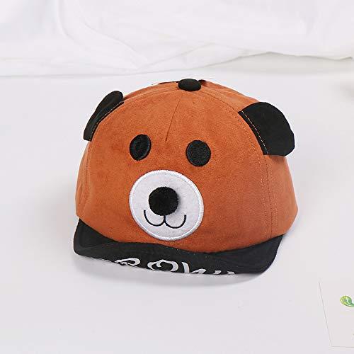 Neue Baby Hut CartoonbärweicheKappe Kinder männer und Frauen Ohren Visier baseballmütze Kaffee Farbe 46-50 cm geeignet
