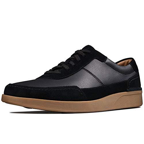 Clarks Oakland Run, Zapatos de Cordones Derby Hombre, Negro (Black Leather Black Leather), 42 EU