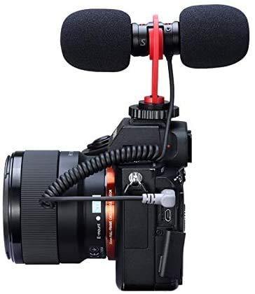 Linghuang SAIREN T-Mic Electret Condenser Micrófono Video para Cámara SLR y Smartphone Vlog Micrófono Cardioide Directividad Bajo Nivel de Ruido