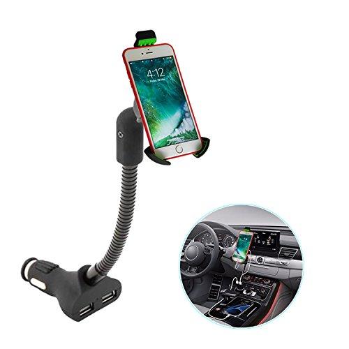 Airena Cargador y Soporte Movil Coche,Soporte de Smartphone para iPhone XR   8 Plus,Galaxy S9 S8 Edge Note 9 8, Huawei etc.