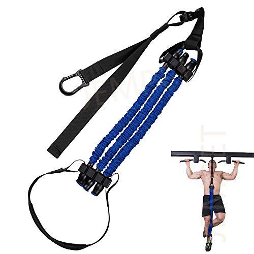 JEMPET Barra de dominadas Elásticos Banda de resistencia - Sistema de ayuda de pull-up - soporte elástico para programas de entrenamiento de cuerpo entero