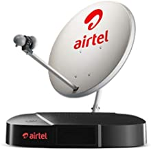Airtel DigitalTV HD DTH Set Top Box Connection and 1 Month FTA Pack and Fast Installation