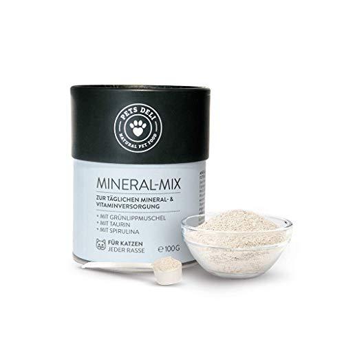 Nahrungsergänzung für Katzen | Premium-Qualität | Mineral-Mix mit Grünlippmuschel-Pulver & Taurin | reich an Nährstoffen für die Katze | 100% Lebensmittelqualität, versorgt mit Mineralien & Vitaminen