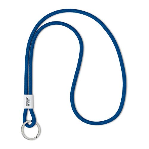 Pantone Design-Schlüsselband Key Chain Long | robust und farbenfroh | lang | Color of the Year 2020 - Classic Blue 19-4052 | Blau