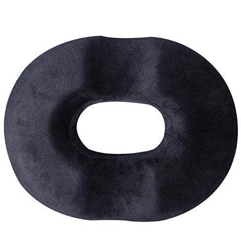 YMYGCC Seat Cushion Donut Tailbone Pillow Hemorrhoid Seat Cushion For Prostate,Coccyx,Sciatica,Pregnancy,Post Natal Orthopedic Surgery-Good Support 91 (Color : Black, Specification : 45X35.5X6.5CM)