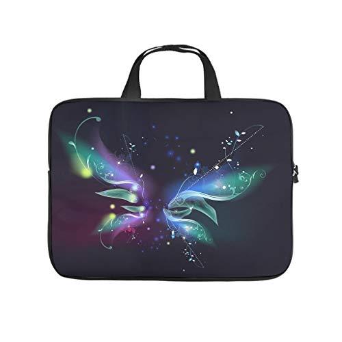 magic butterfly Laptop bag Pattern Laptop Case Bag Customized Anti-Static Laptop Handbag with Portable Handle for Women Men white 15 zoll