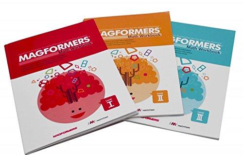 Magformers Math Workbooks: Levels I - III (3-book set)