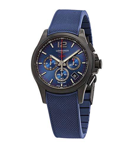 Longines Conquest V.H.P. Perpetual Herren-Armbanduhr Chronograph Quarz blaues Zifferblatt L37172969