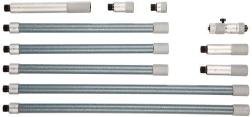 Mitutoyo 137-212 Tubular Vernier Inside Micrometer, Extension Rod Type, 2-12