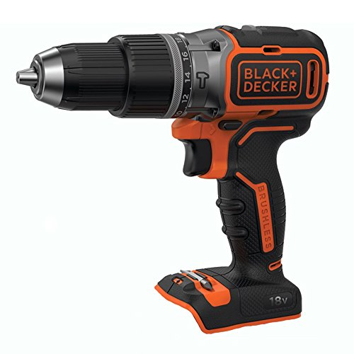 BLACK+DECKER 18 V Cordless Brushless Drill Driver Power Tool, Batery Not Included, BL188N-XJ