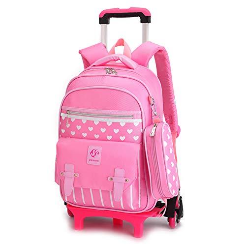LNDD-Waterdichte School Trolley Bag Kinderen Bagage Rugzakken met Opladen Ports Reistas Functionele Rolling Carts koffer koffer Princess Bag
