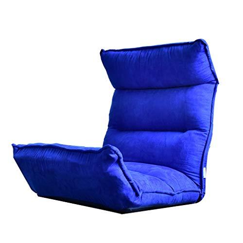 FENGLIAN Sofá cómodo Meditationsstuhl Blaues Sofa Balkon Faules Sofa Lounge Stuhl Tatami Stuhl Klappbares Schlafzimmer Kleines Sofa Bürostuhl (Color : Yellow, Size : 130 * 53 * 10CM)